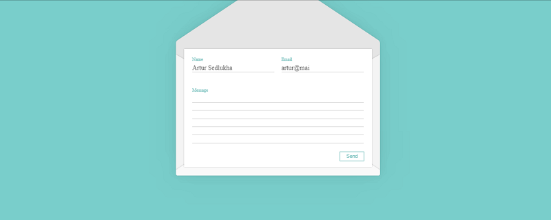 Envelope Email Form Animation With GSAP