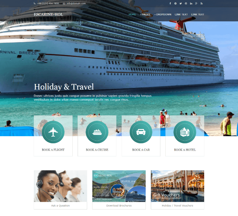 Escarine-Hol Free Website Template