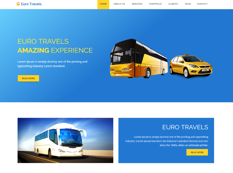 Euro HTML5 Travel Agency Website Template