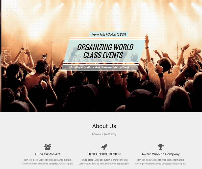 Evento - A Responsive One Page Event Template with Bootstrap