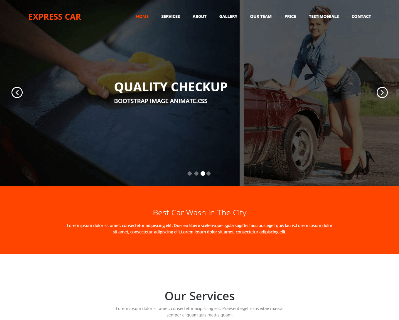 Express Car Wash HTML5 Responsive Web Template