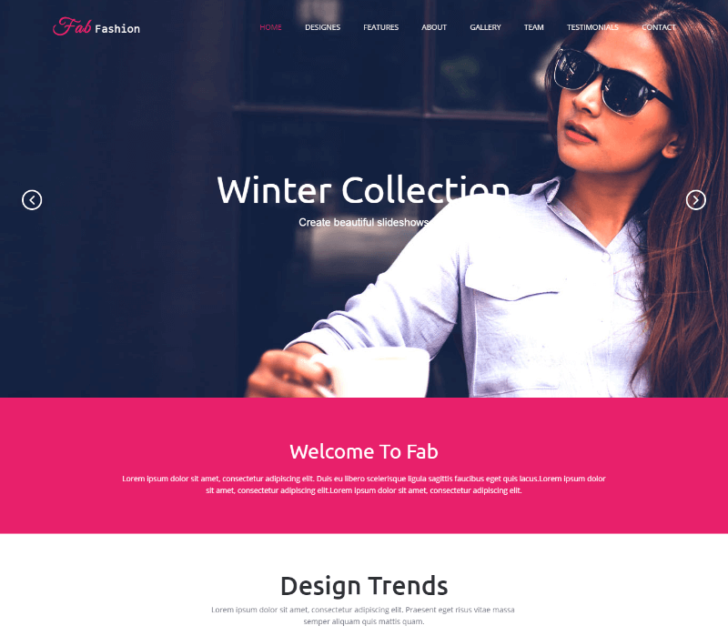 Fab Fashion Responsive HTML5 Web Template