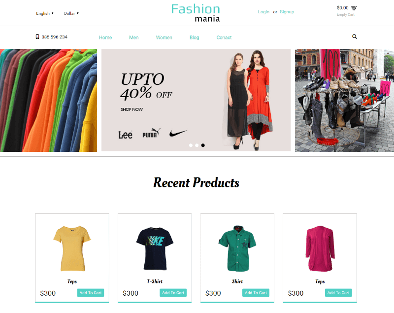 Fashion Mania a Flat Ecommerce Bootstrap Responsive Web Template