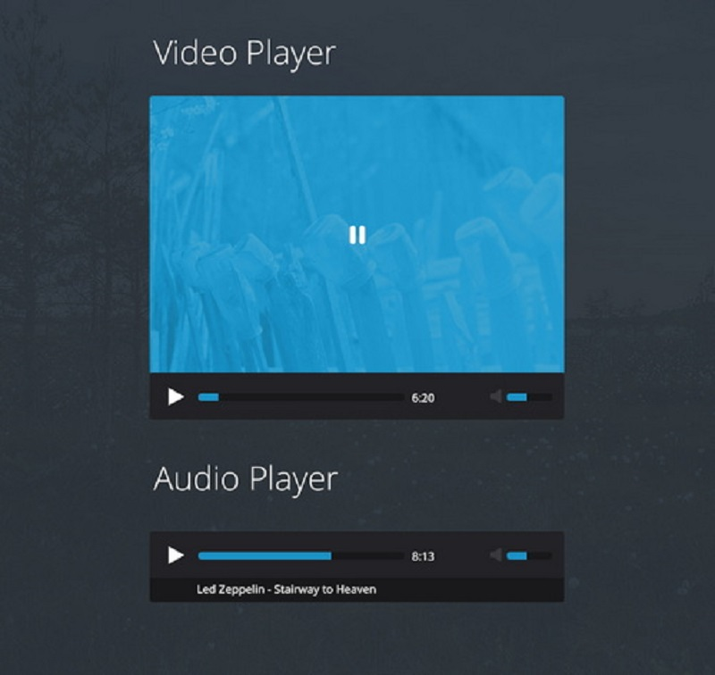 Flat Video / Audio Player