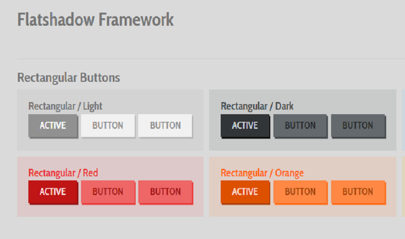 Flatshadow – 3D Buttons