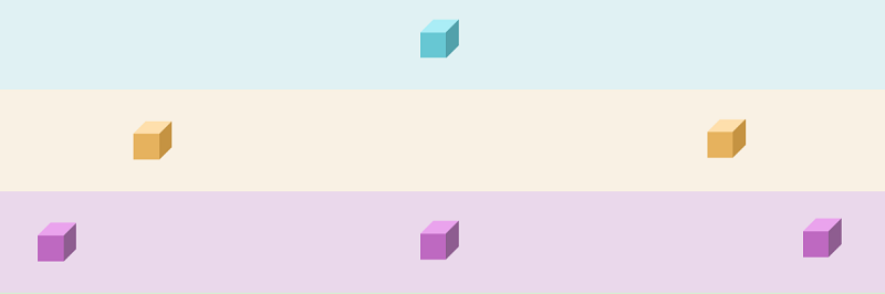 Floaty Cubes (W/ Relative Color Palettes)
