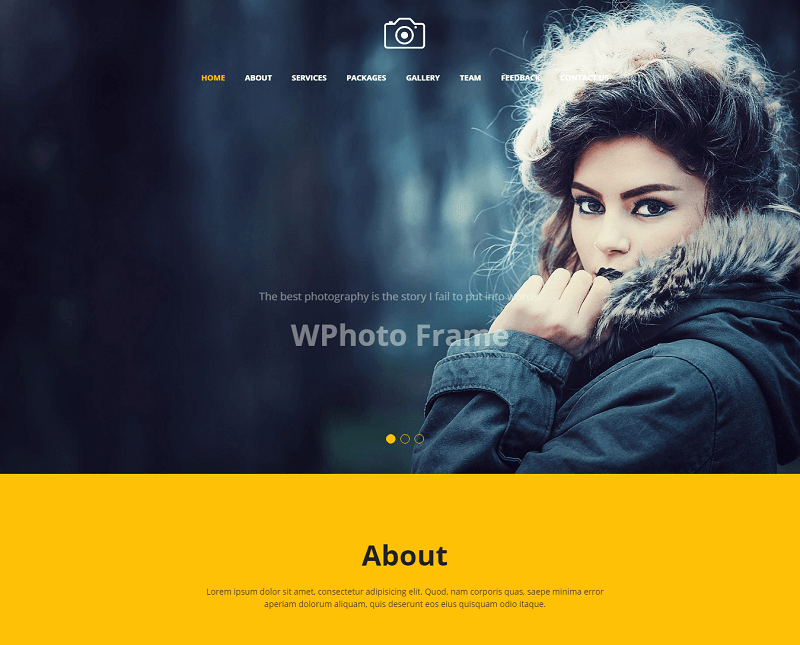Focus Best Photography Website Template Free