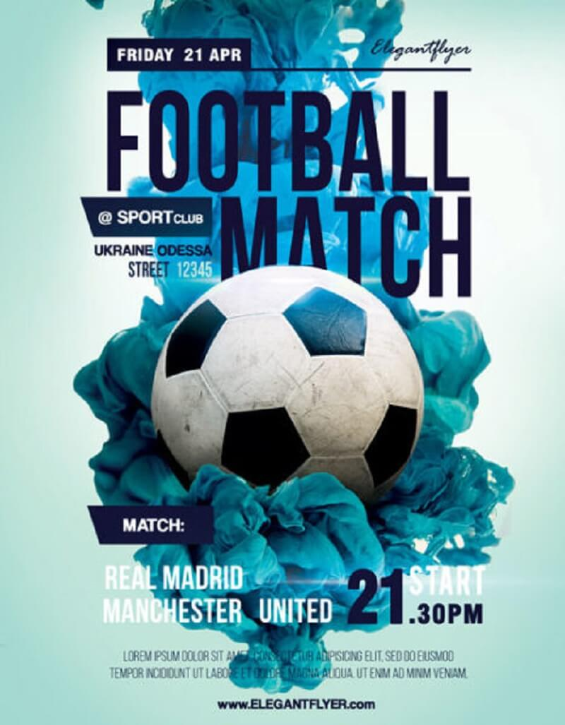 Football Match – Flyer PSD Template + Facebook Cover