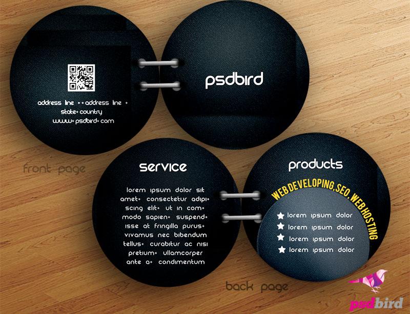 Free Bi Fold Round Brochure PSD