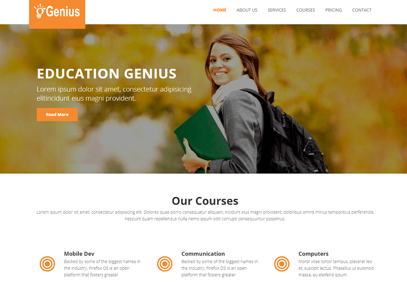 Genius Educational HTML5 Template
