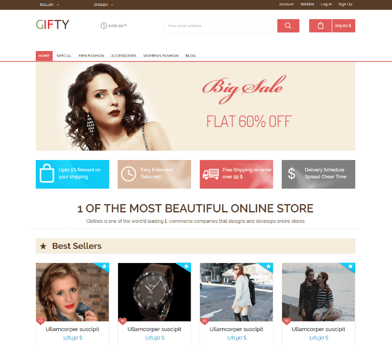 Gifty a Flat Ecommerce Bootstrap Responsive Web Template