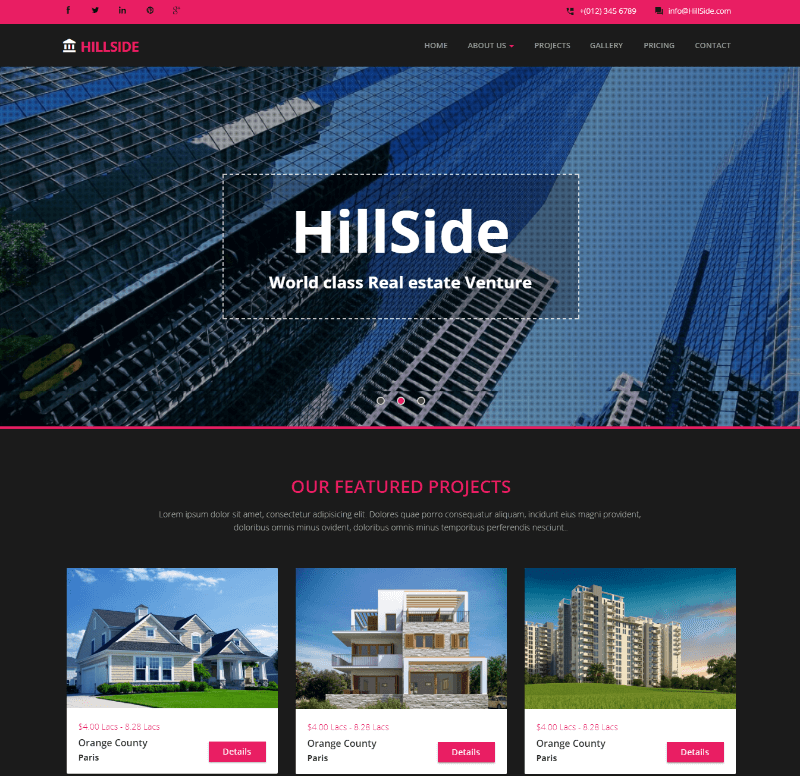 Hillside Real-estate Bootstrap Responsive Web Template