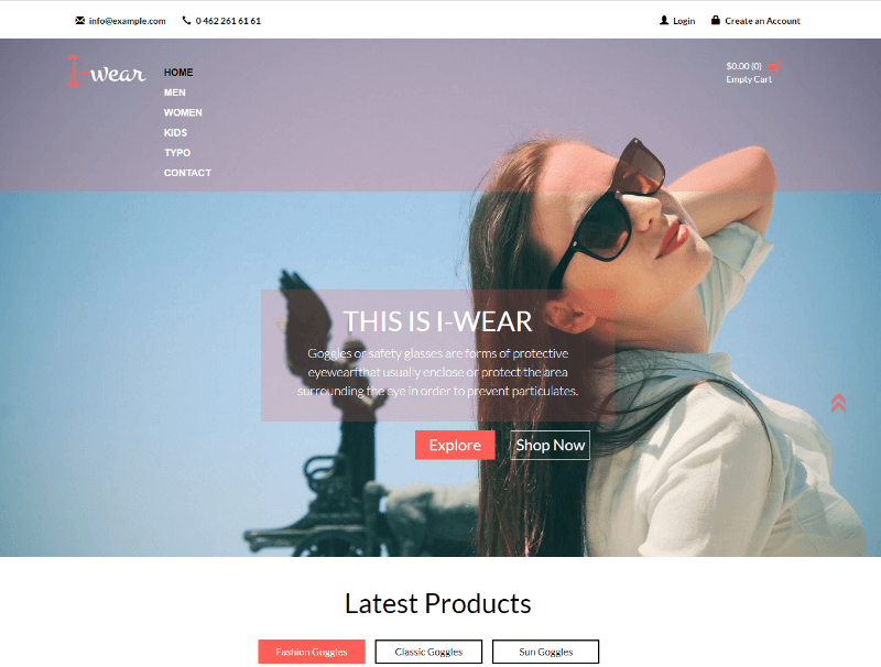 I Wear a Flat Ecommerce Bootstrap Responsive Web Template