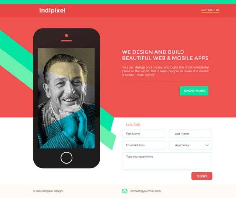 Indipixel - Free Landing Page Template