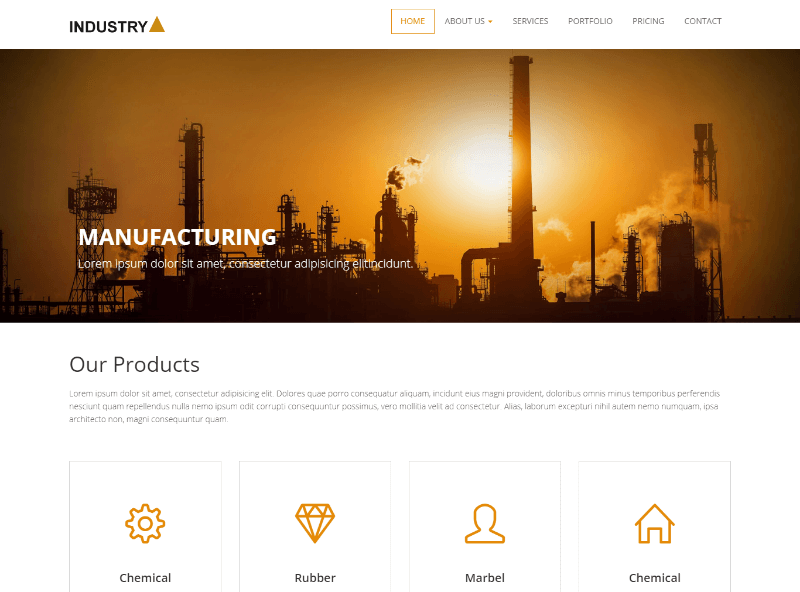 Industry Responsive Bootstrap HTML Website Template