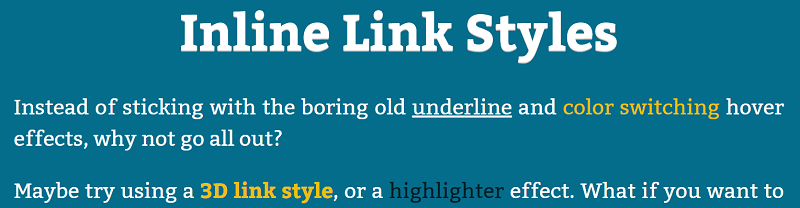 Inline Link Styles