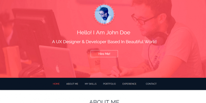free resume html website templates - Resume Web Template