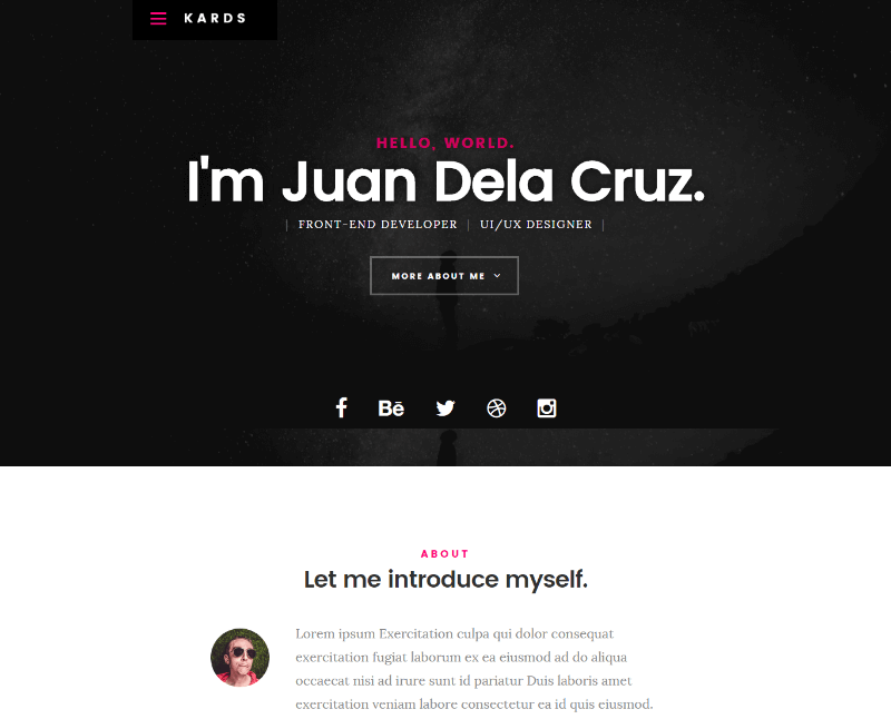 Best Free Resume Html Website Templates Download Now - Free responsive personal website templates