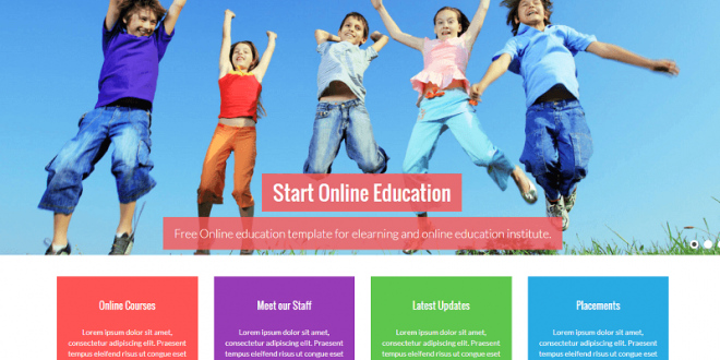 18 best free education html website templates 2018