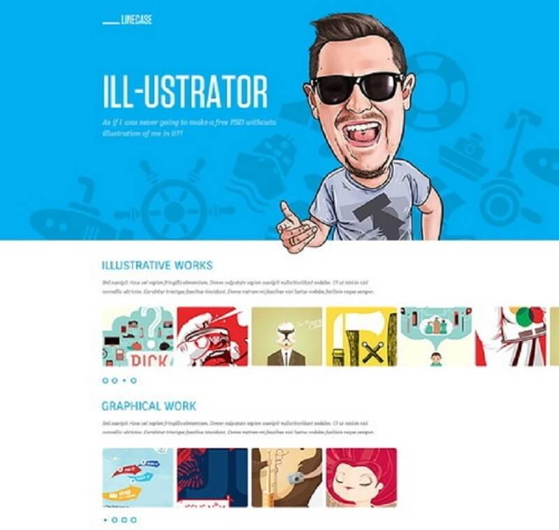 LineCase - Fresh And Bright Website PSD