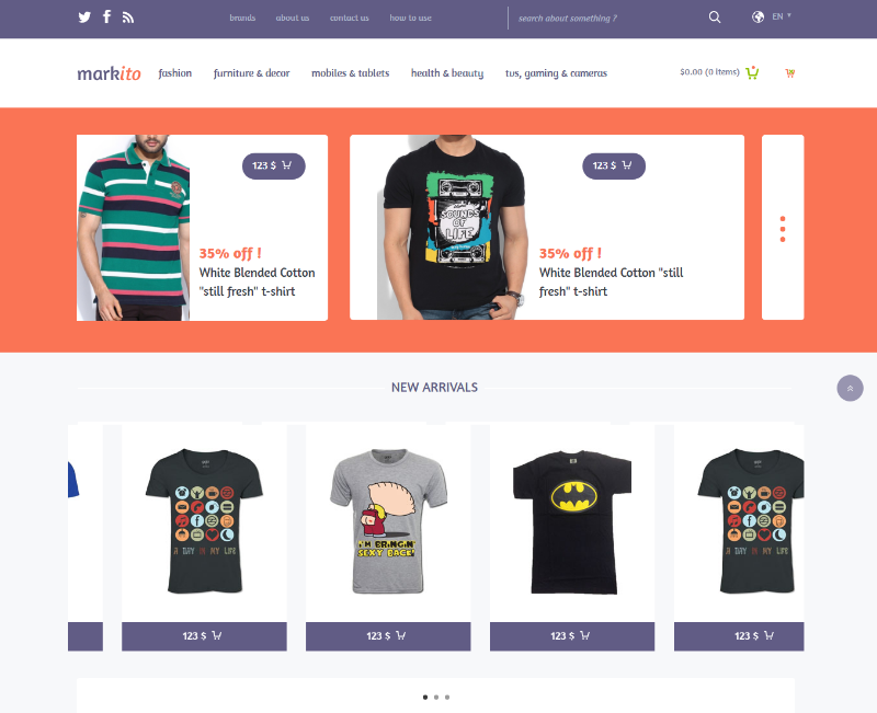 Markito a Flat Ecommerce Bootstrap Responsive Web Template