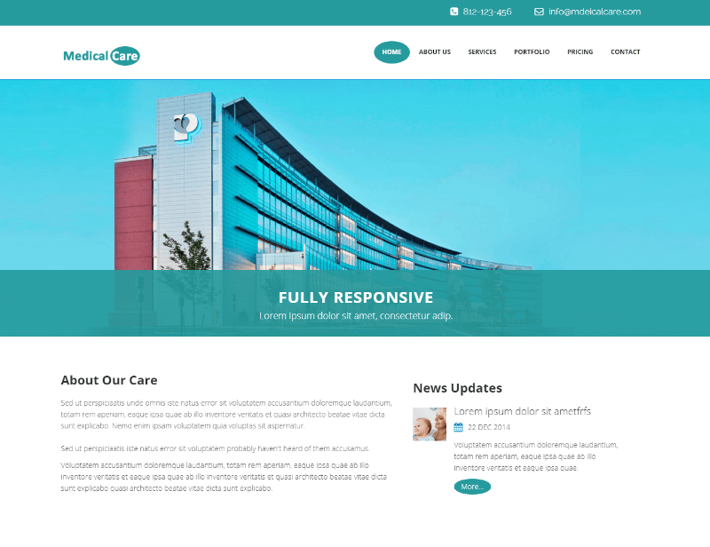 Medical Care Doctor Free HTML5 Hospital Web Template