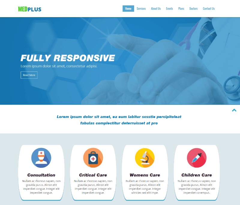 Medplus a Medical Bootstrap Web Template