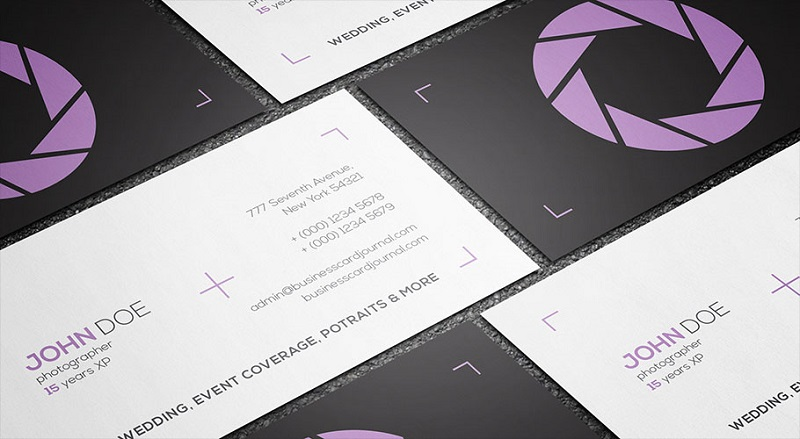 Clean & Minimal Photography Business Card Template