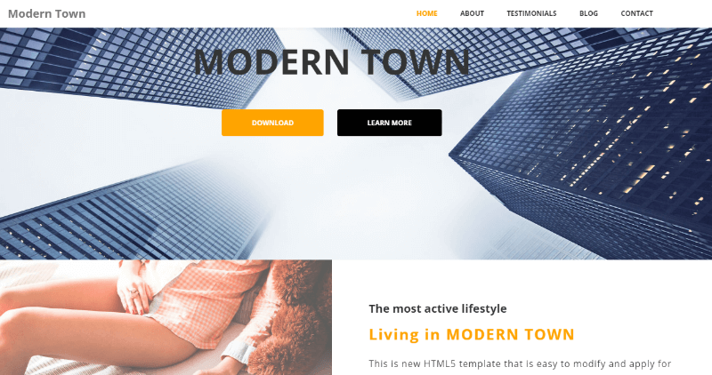 Modern Town HTML5
