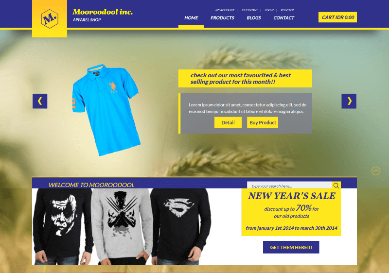 Mooroodool a Flat Ecommerce Bootstrap Responsive Web Template
