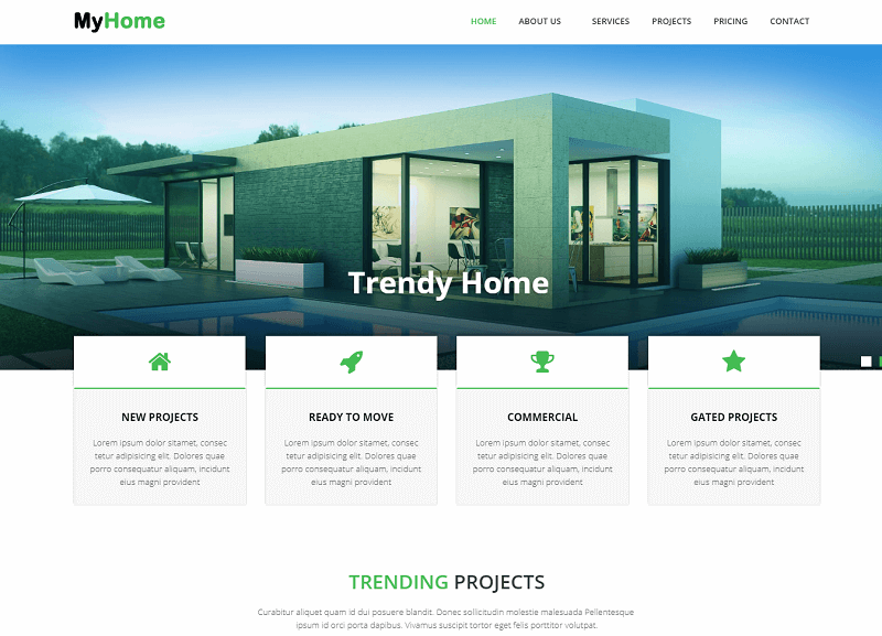 MyHome Real Estate Website Template