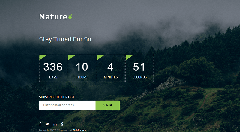 Nature Best Coming Soon HTML Website Template