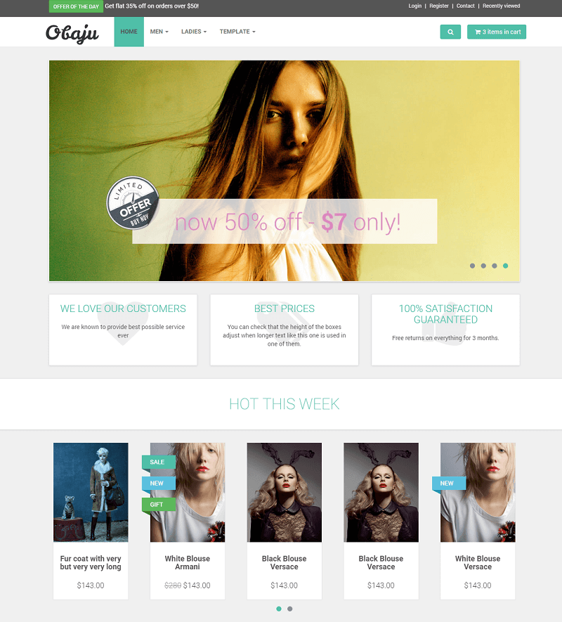 Obaju E commerce Template