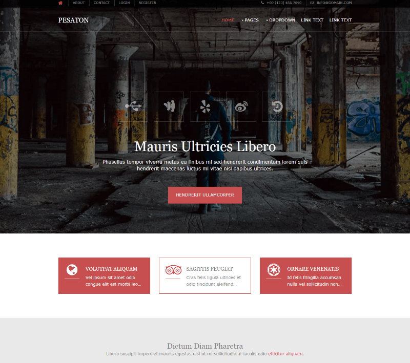 Pesaton Free Website Template