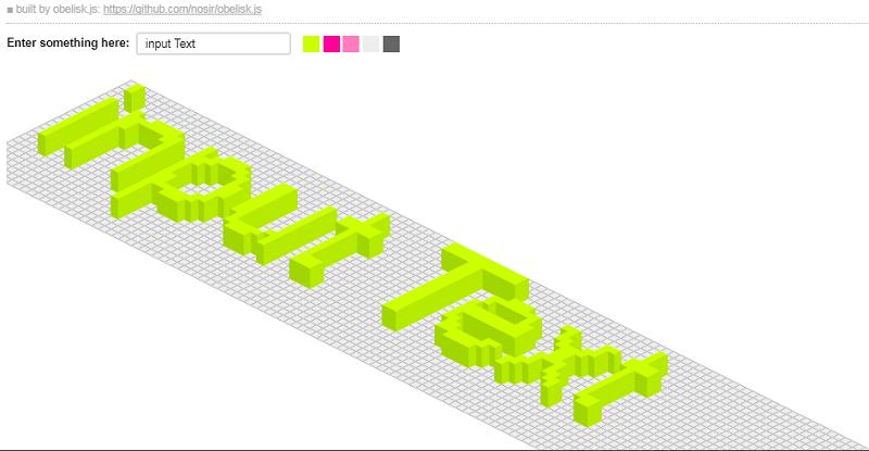 Pixel Isometric Input Text Rendering