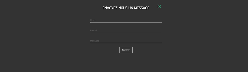 Popup Message form