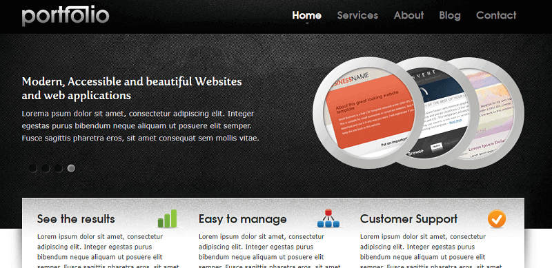 15 free portfolio html website templates 2018 download now
