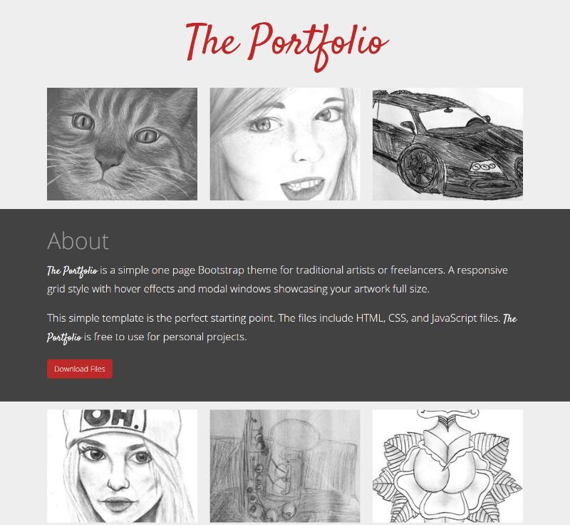 e portfolio templates free - 15 free portfolio html website templates 2018 download now