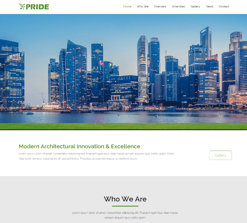Pride Real Estate HTML5 Responsive Website Template
