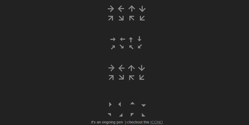 Pure CSS Arrows