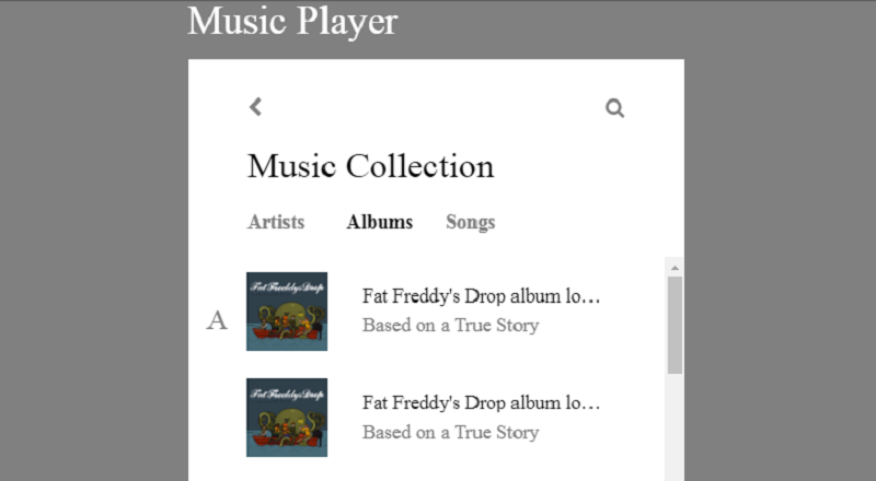 [Pure CSS] Music Player ( Mix-Blend-Mode / Sticky )