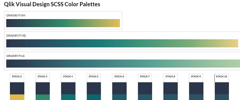 Qlik SCSS Color Palettes