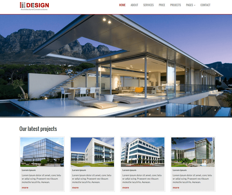 Real Estate Builders Free Responsive Website Templates – A Design