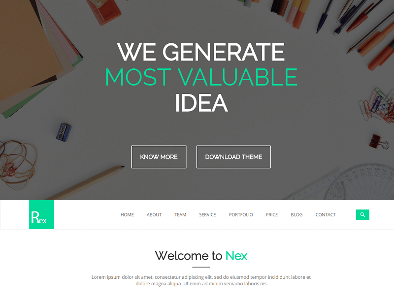 Rex - Free web template