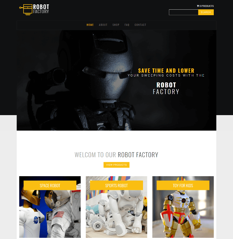 Robot - Free Bootstrap Multipage Product Showcase Template