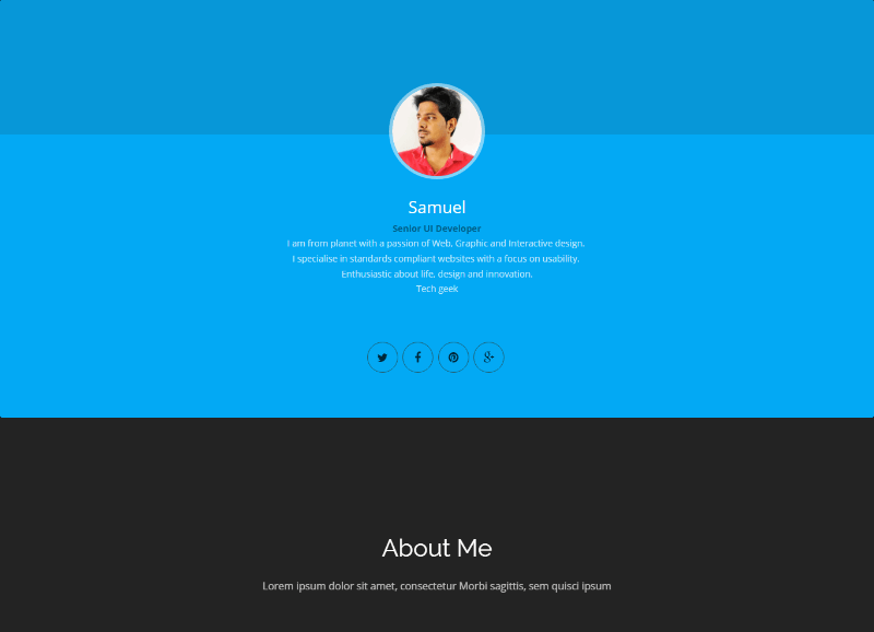 Samuel vCard Resume HTML5 Website Template