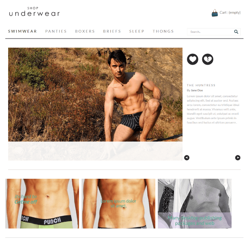 Shop Under Wear a Flat Ecommerce Bootstrap Responsive Web Template