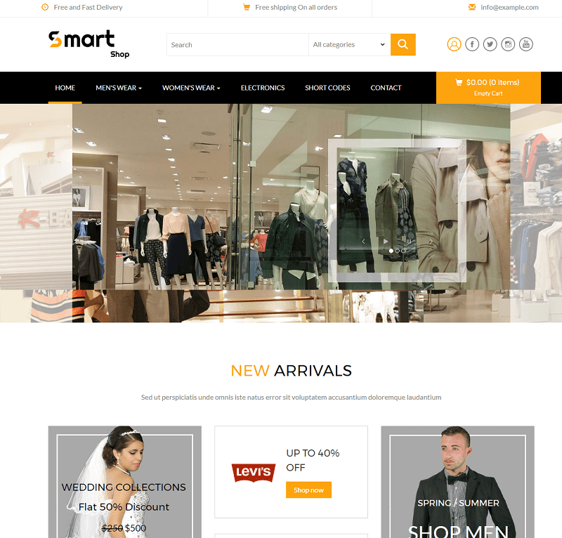 Smart Shop a E commerce Flat Bootstrap Responsive Web Template