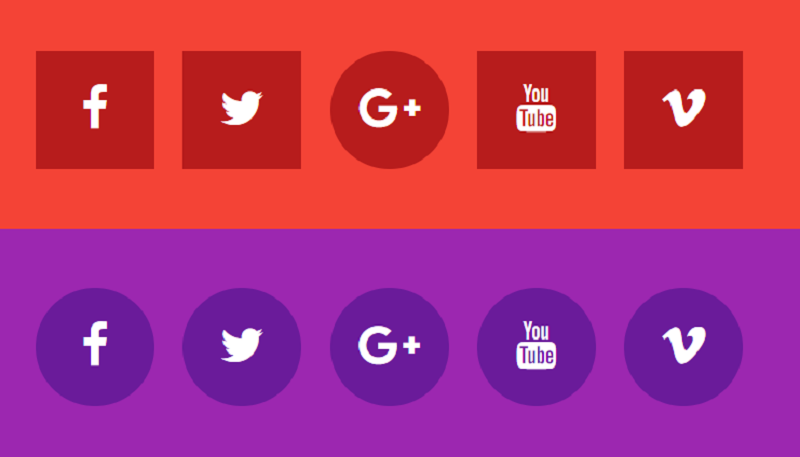 Social Icons Css Hover Effects