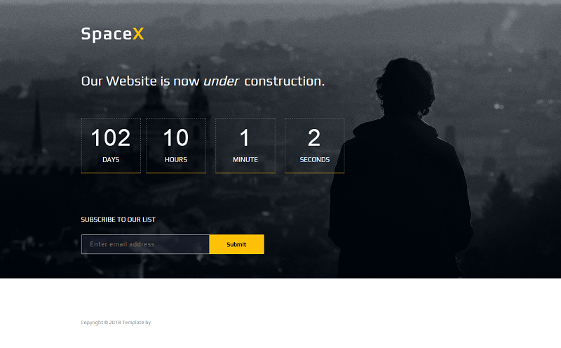 Spacex Coming Soon Website Template